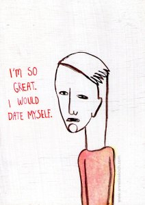 Dating  © 2012. Ink and gesso on plywood