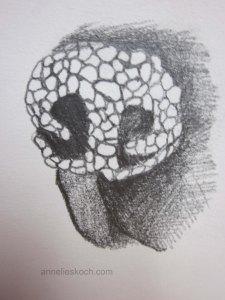 Dog nose II  ©  2013. Graphite on paper.
