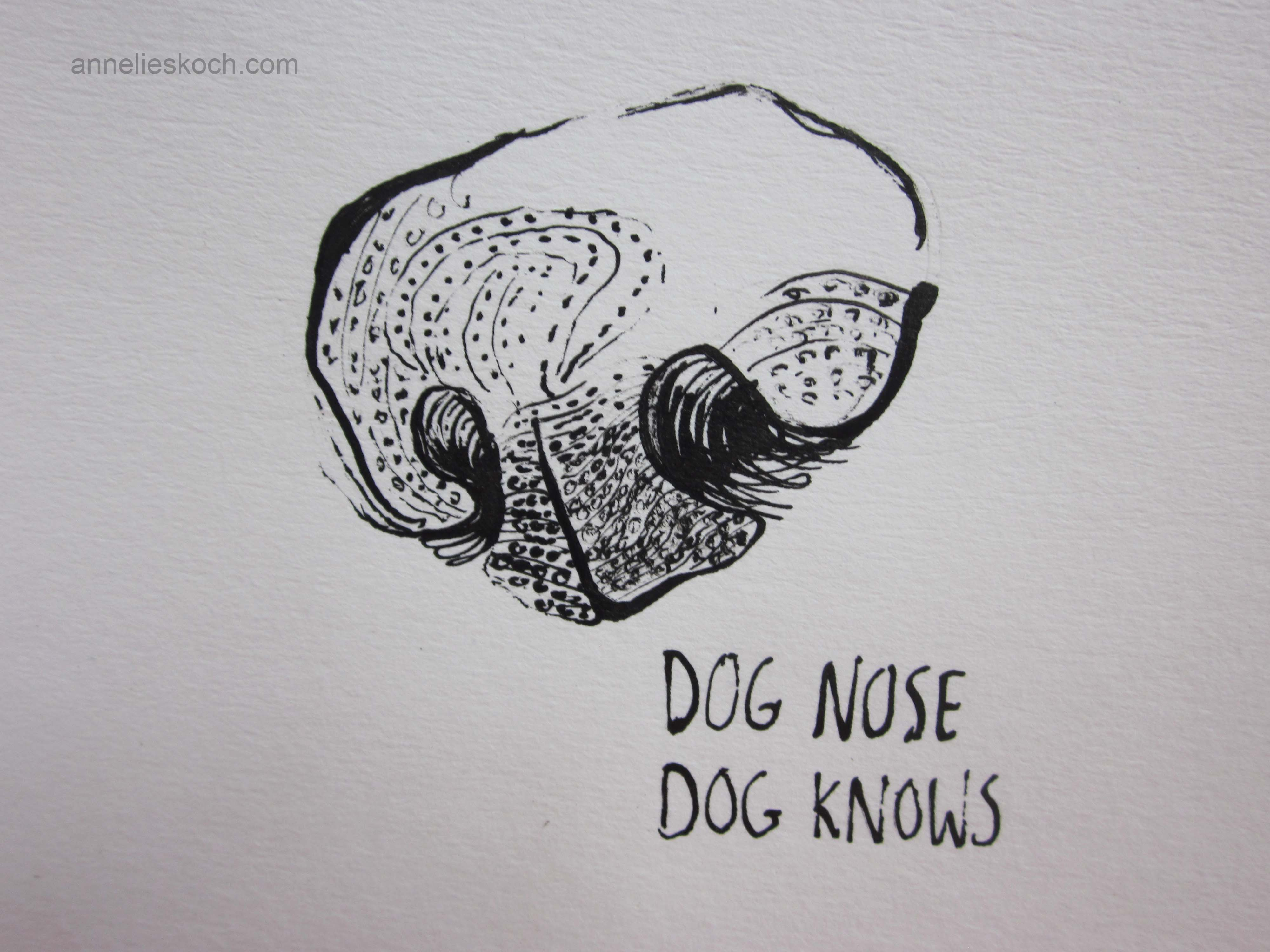 how to draw a cartoon dog nose