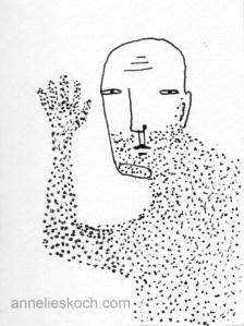 Wave © 2013. Ink on paper.
